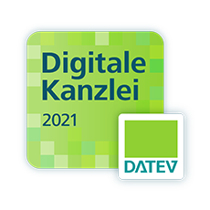 Logo: Label digitale Kanzlei 2021 -